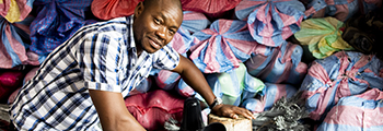 Narcisse, Ivorian entrepreneur in the rubber industry